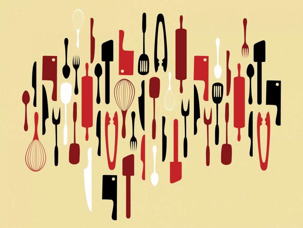 konfigurieren des Kunstdrucks in Wunschgröße Kitchen Utensils I von Grey, Jace