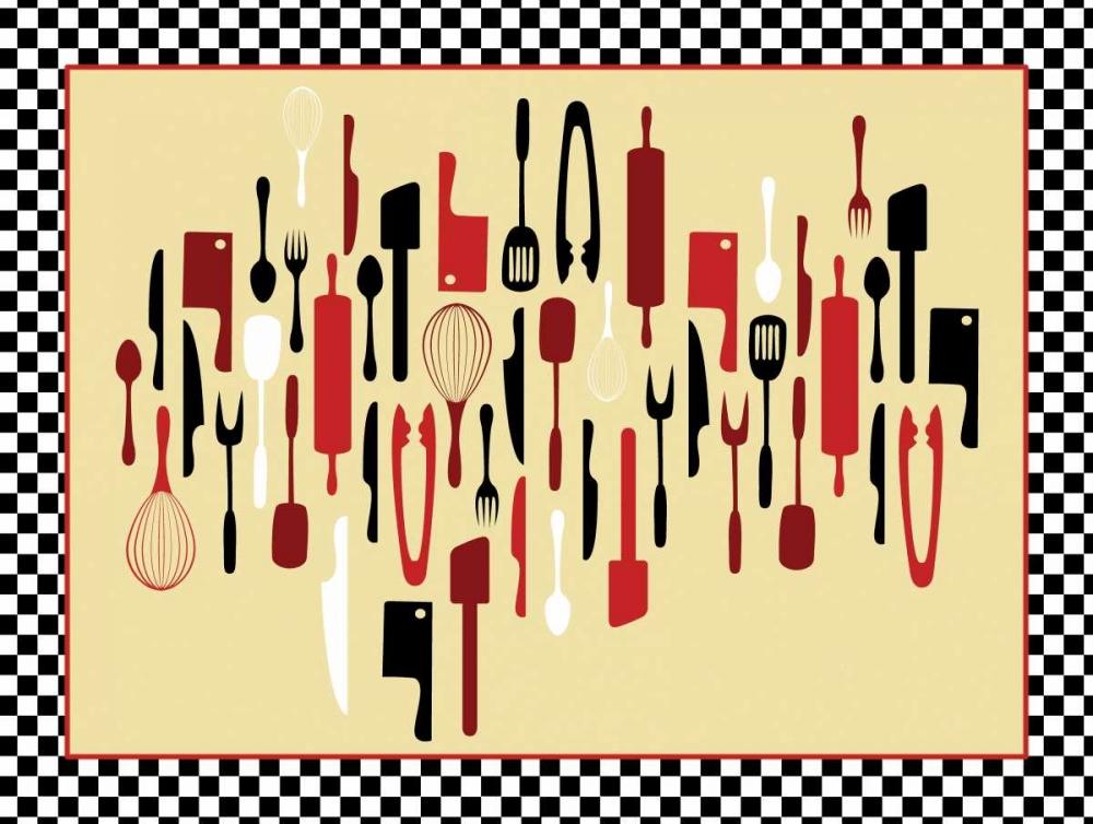 konfigurieren des Kunstdrucks in Wunschgröße Kitchen Utensils IV von Grey, Jace
