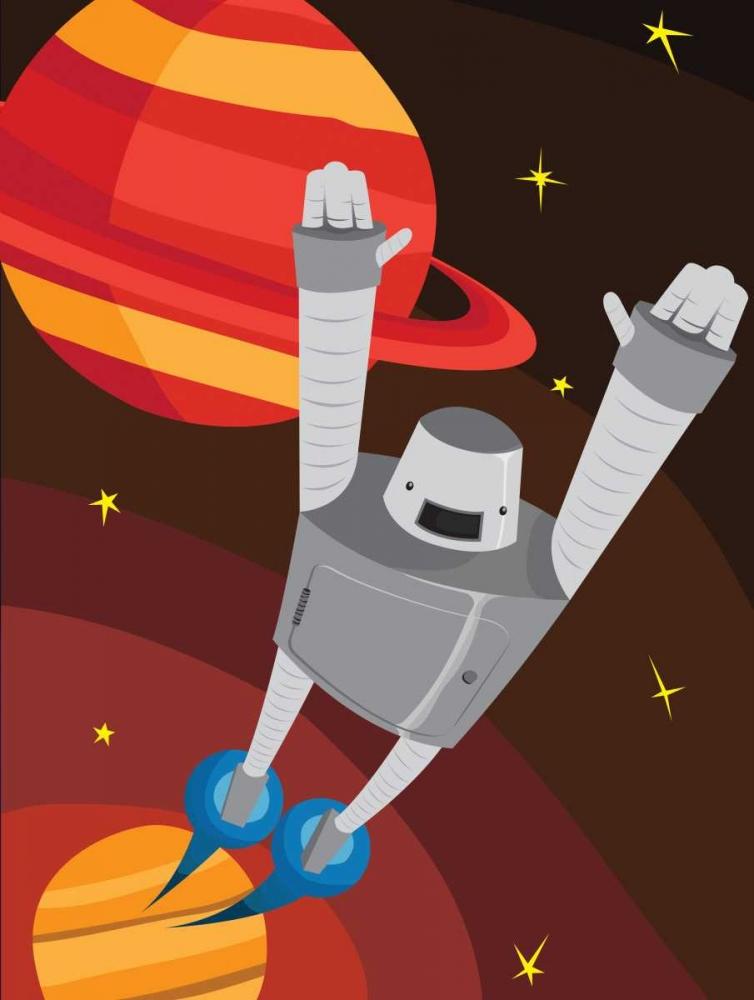konfigurieren des Kunstdrucks in Wunschgröße Rockets B von Grey, Jace