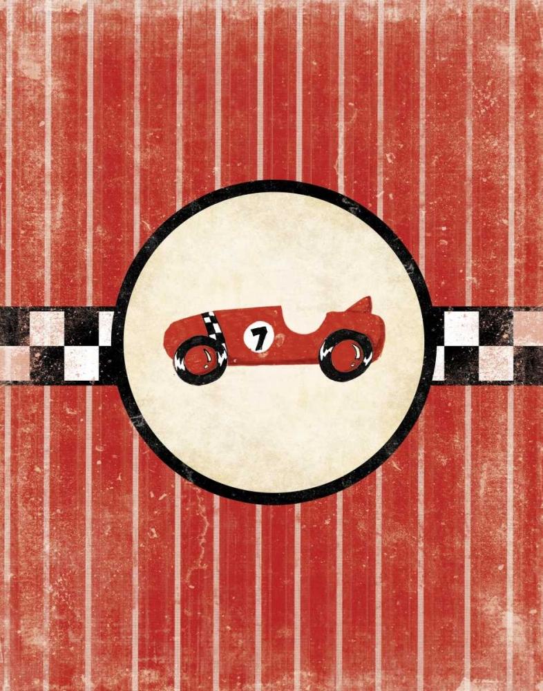 konfigurieren des Kunstdrucks in Wunschgröße Race Car von Grey, Jace