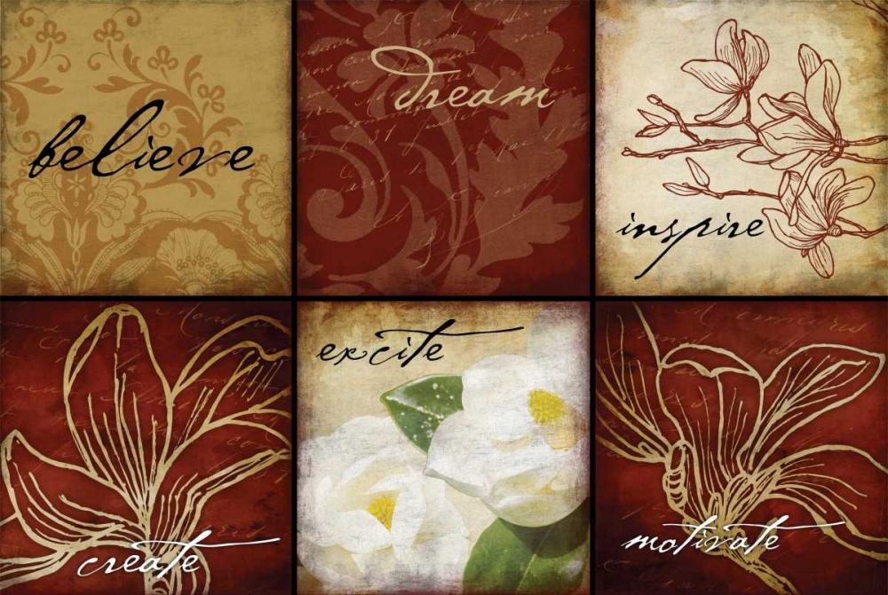 konfigurieren des Kunstdrucks in Wunschgröße Magnolia Inspirational von Grey, Jace