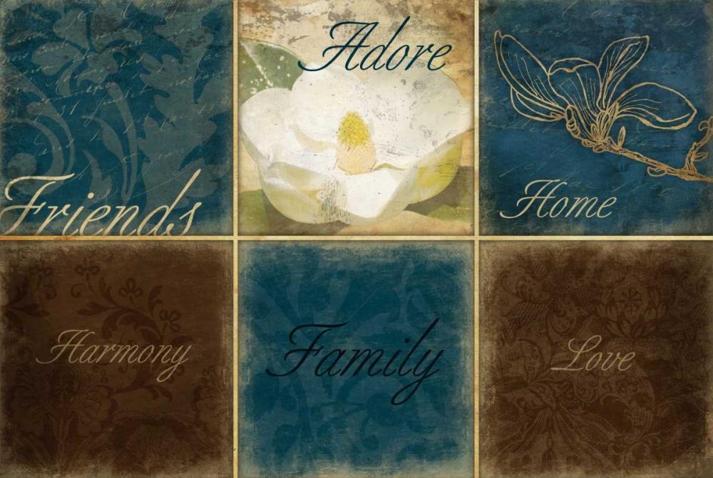 konfigurieren des Kunstdrucks in Wunschgröße Blue Magnolia Inspirational von Grey, Jace