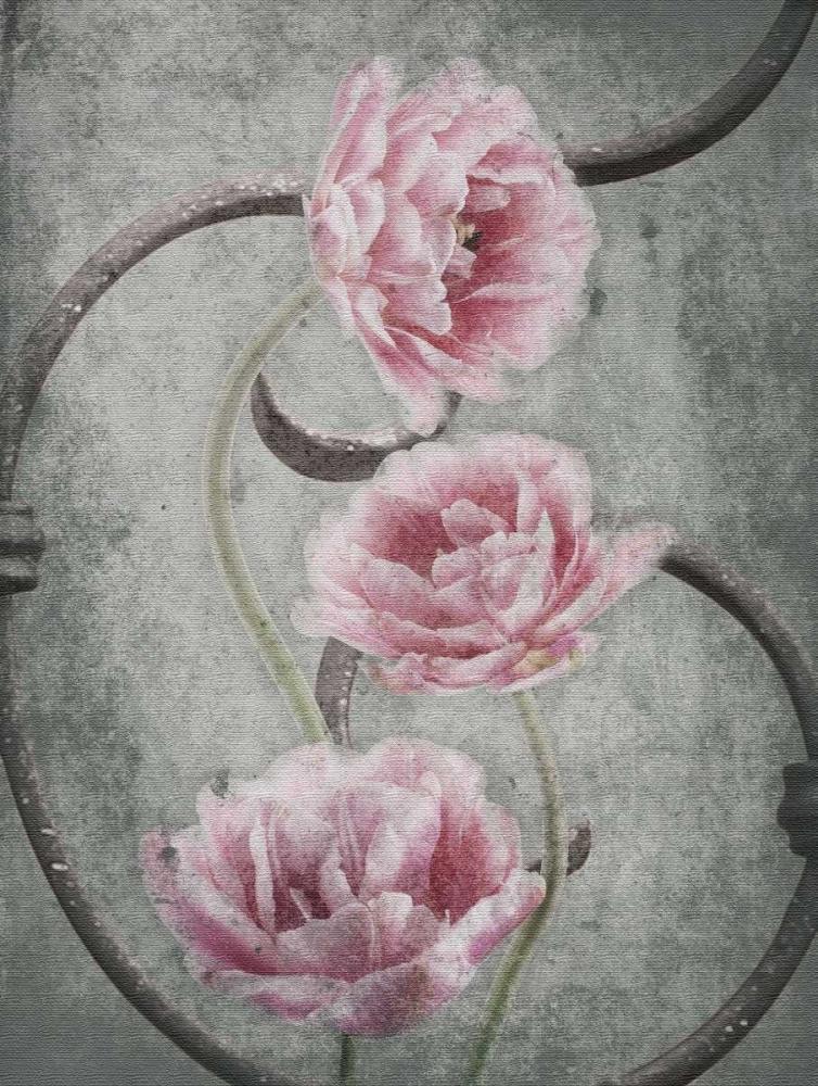 konfigurieren des Kunstdrucks in Wunschgröße Floral Fence von Grey, Jace