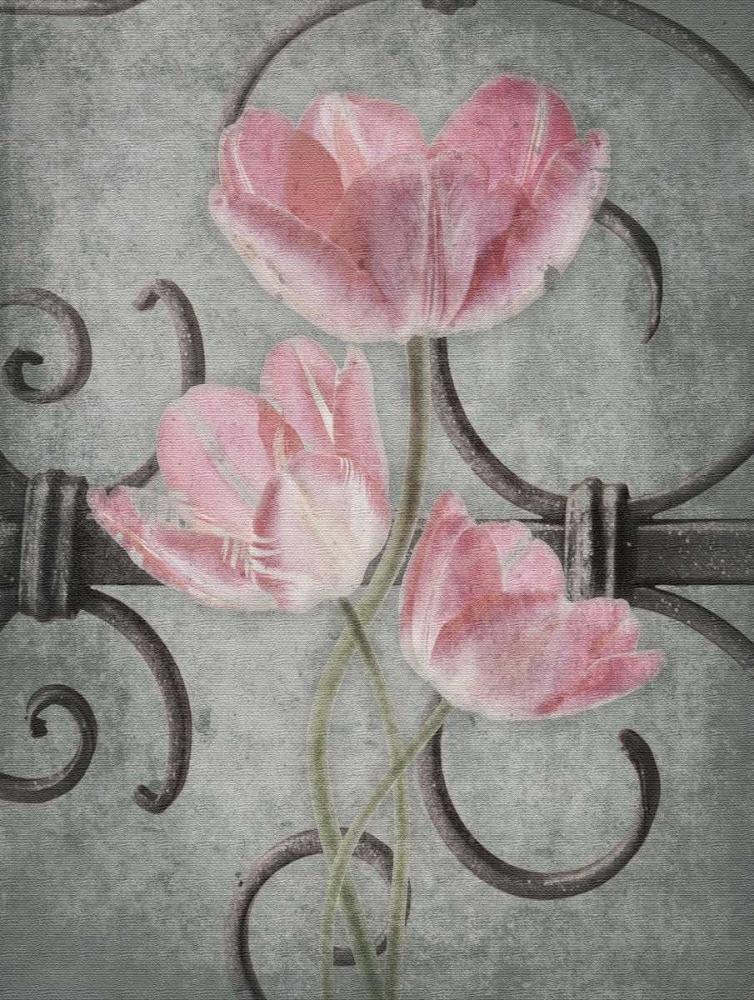 konfigurieren des Kunstdrucks in Wunschgröße Floral Fence Mate von Grey, Jace