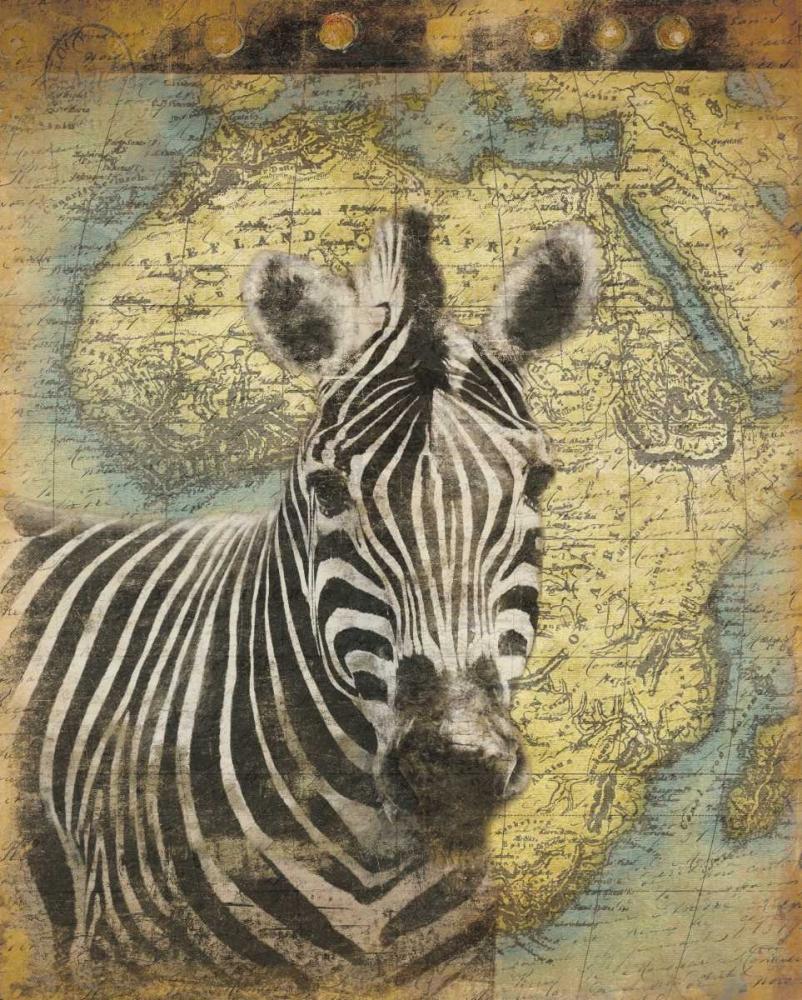 konfigurieren des Kunstdrucks in Wunschgröße Zebra Africa von Grey, Jace