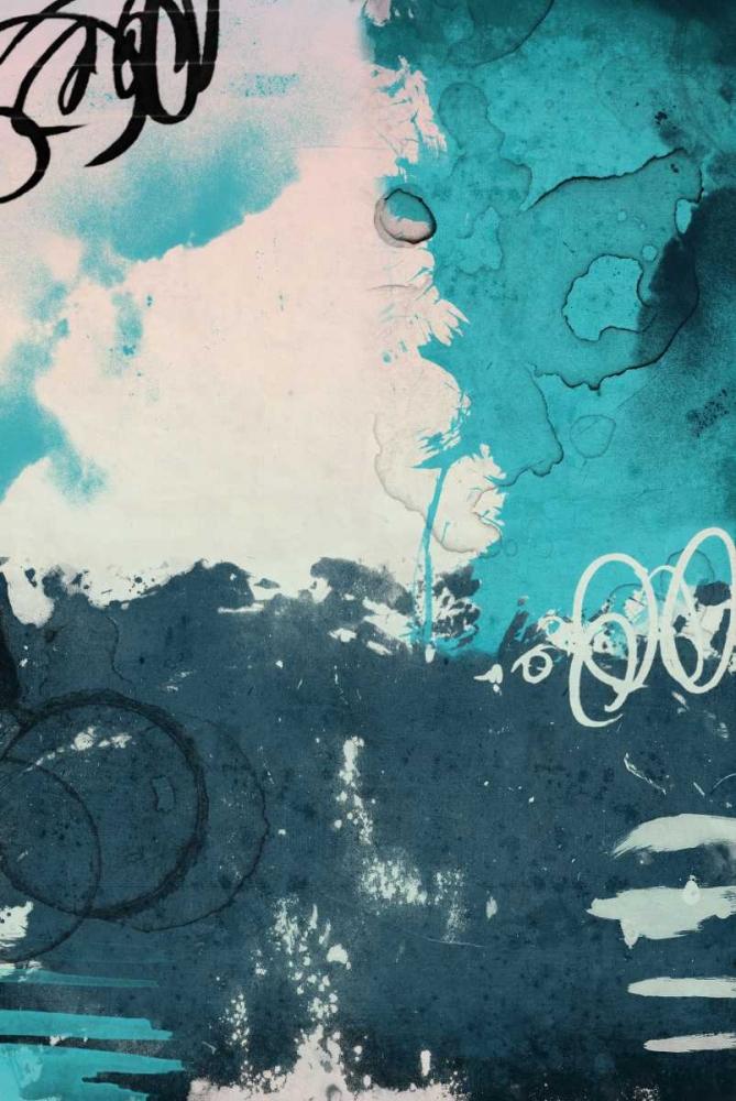 konfigurieren des Kunstdrucks in Wunschgröße Blue abstract von Grey, Jace