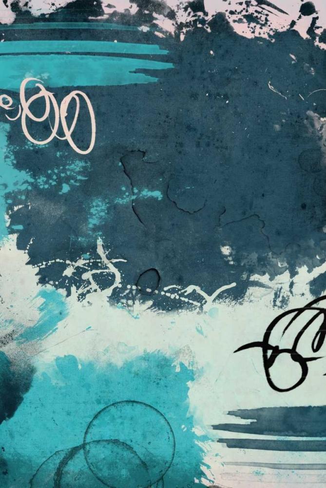 konfigurieren des Kunstdrucks in Wunschgröße Blue abstract mate von Grey, Jace