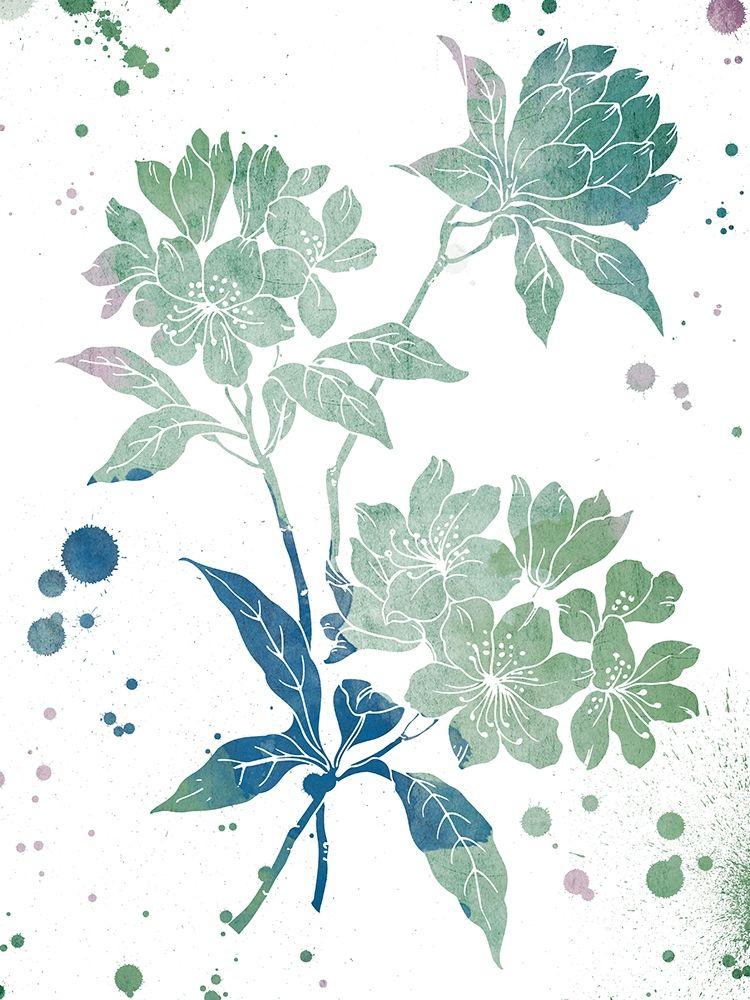 konfigurieren des Kunstdrucks in Wunschgröße Floral Neutral Splatter von Grey, Jace