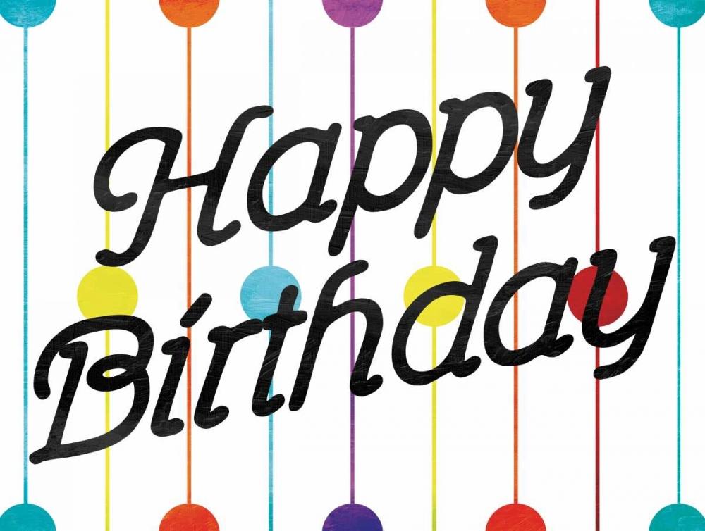 konfigurieren des Kunstdrucks in Wunschgröße Happy Birthday Dots von Grey, Jace