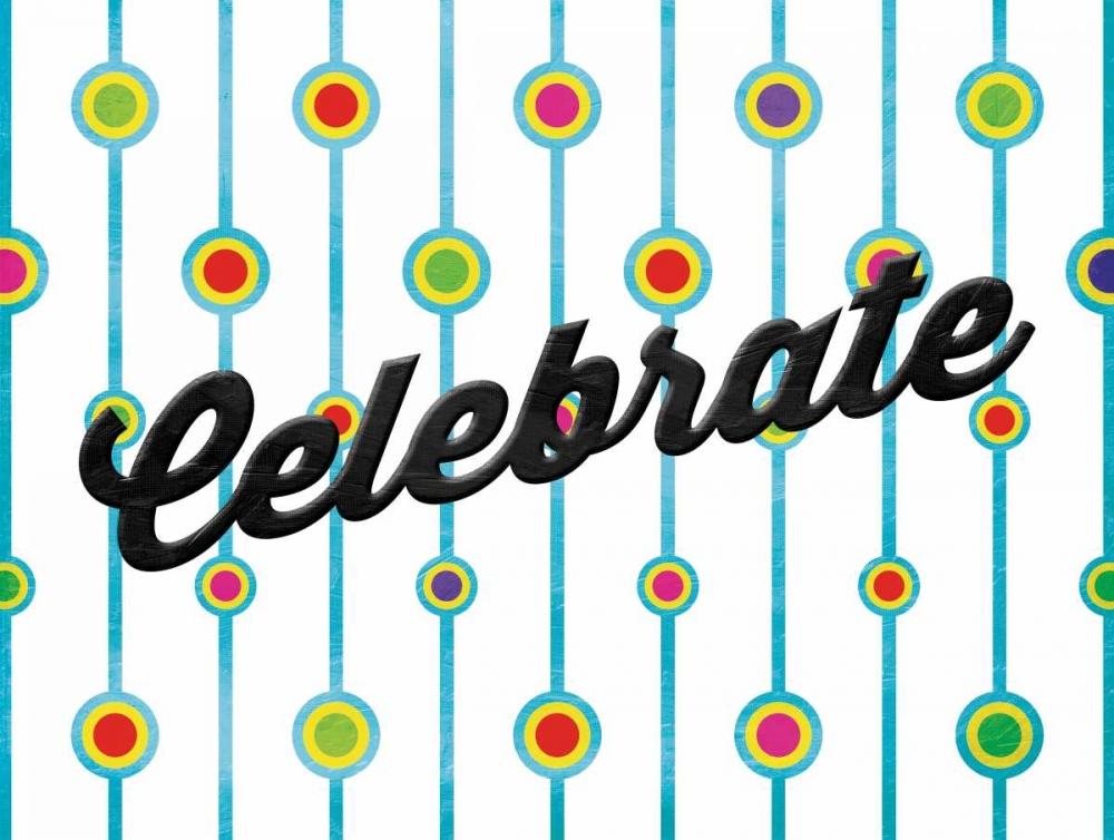 konfigurieren des Kunstdrucks in Wunschgröße Celebrate Dots von Grey, Jace