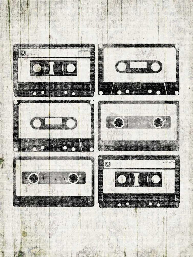 konfigurieren des Kunstdrucks in Wunschgröße Vintage Tapes von Grey, Jace