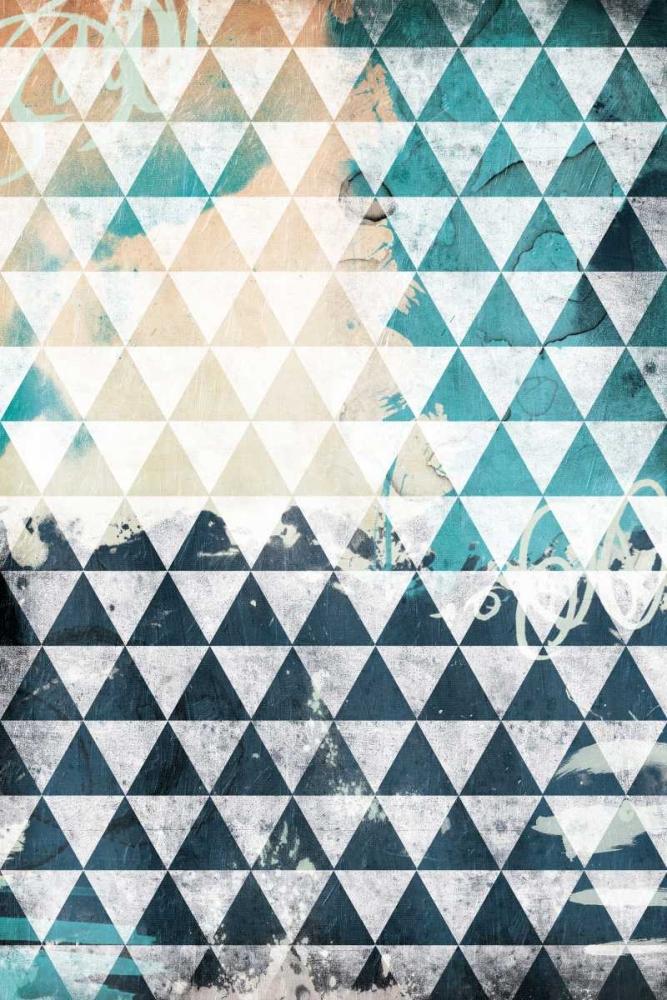 konfigurieren des Kunstdrucks in Wunschgröße Steal Teal Triangles von Grey, Jace