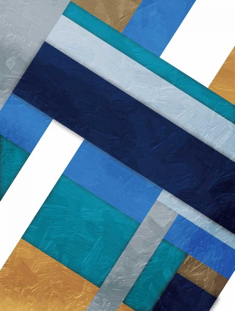 konfigurieren des Kunstdrucks in Wunschgröße Stipe Overlay Blue von Grey, Jace