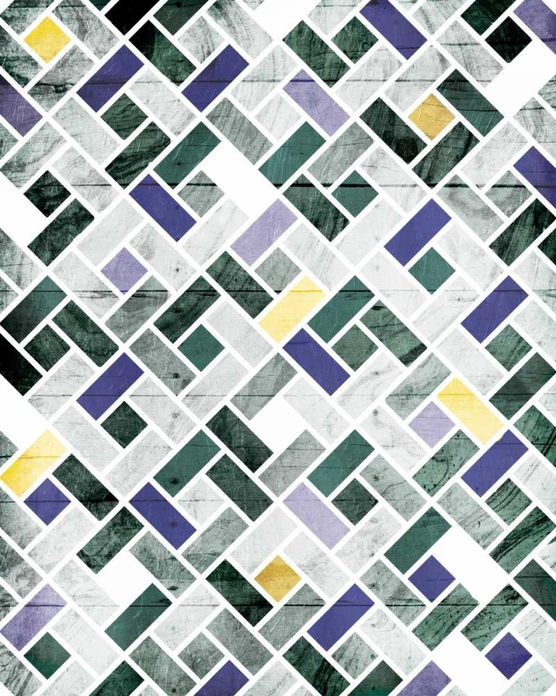 konfigurieren des Kunstdrucks in Wunschgröße Emerald Smoke Tile von Grey, Jace