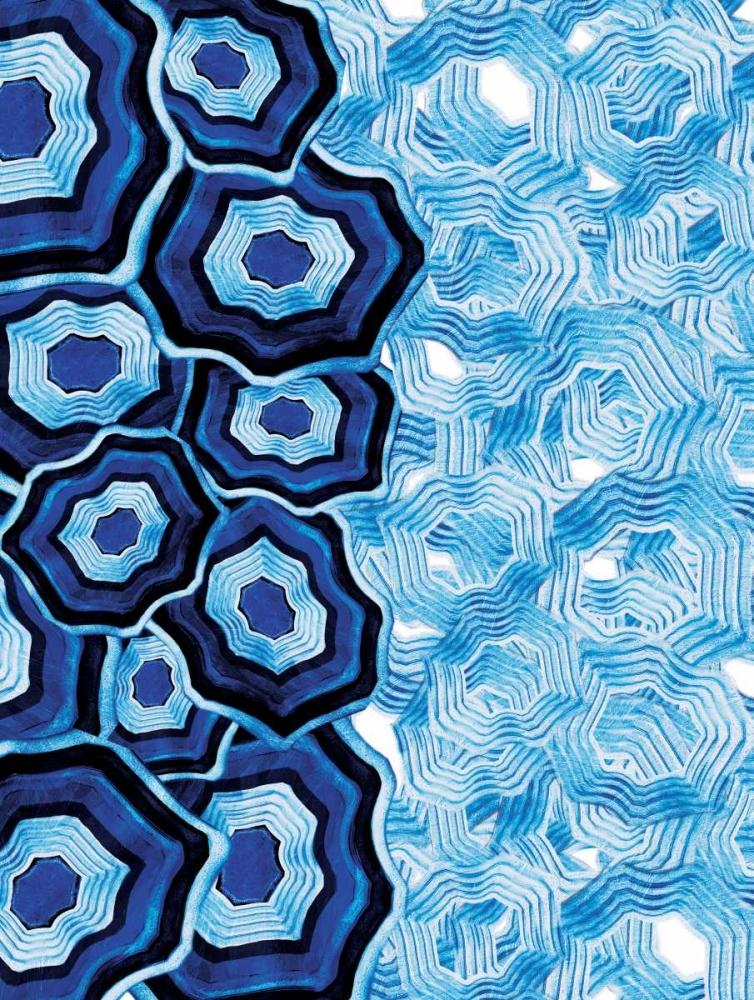 konfigurieren des Kunstdrucks in Wunschgröße Half Of Blue White Agates von Grey, Jace