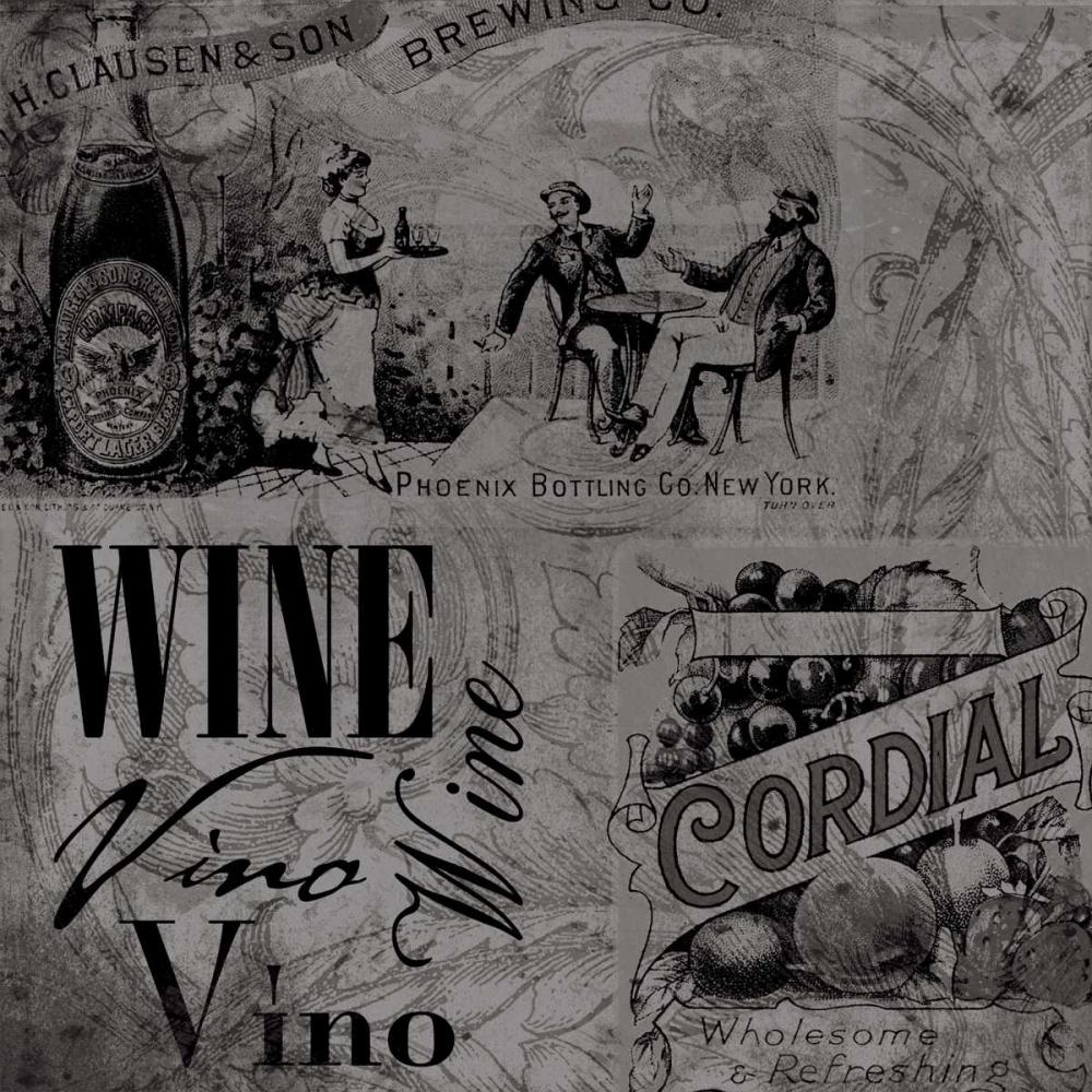 konfigurieren des Kunstdrucks in Wunschgröße Wine labels1 von Grey, Jace