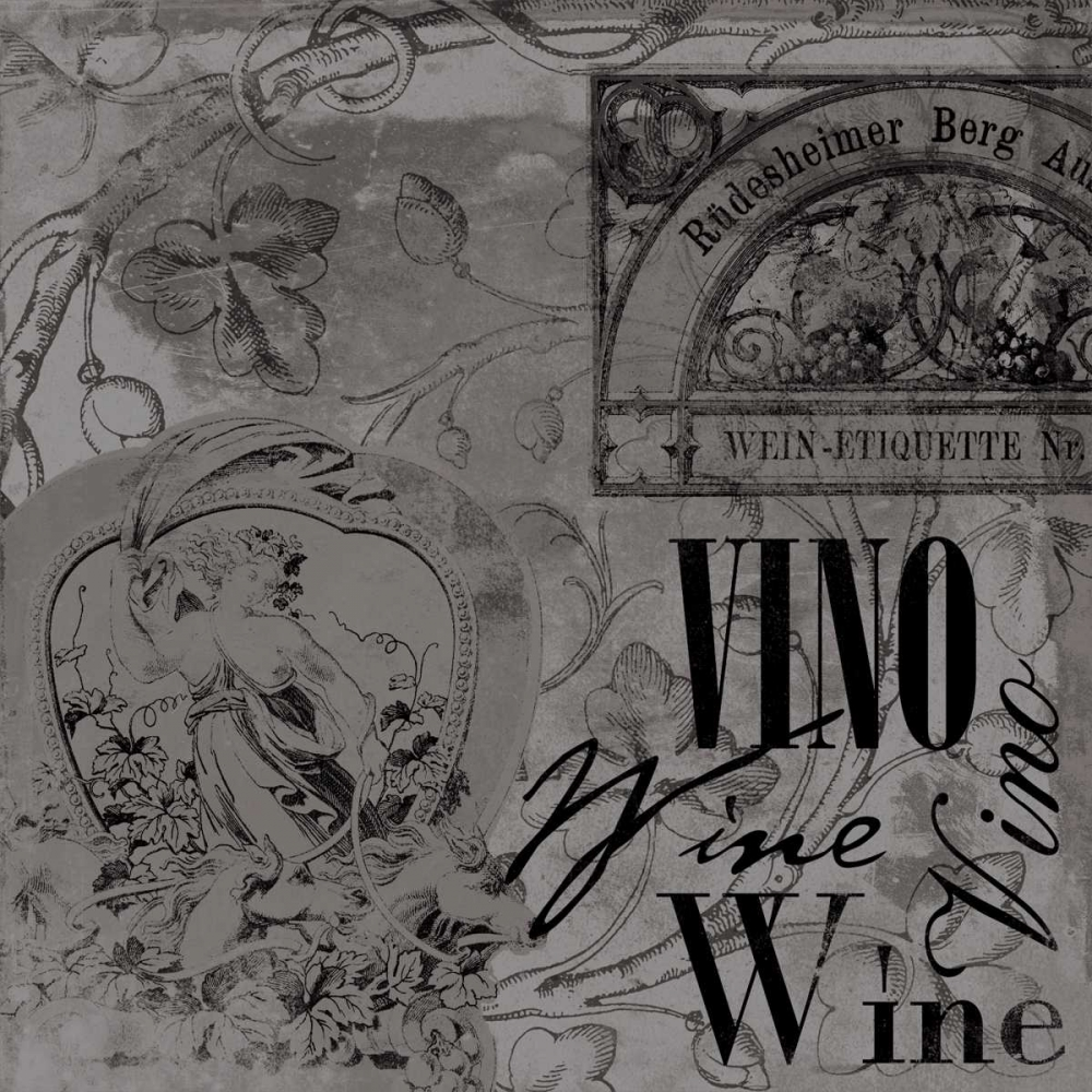 konfigurieren des Kunstdrucks in Wunschgröße Wine labels 2 von Grey, Jace