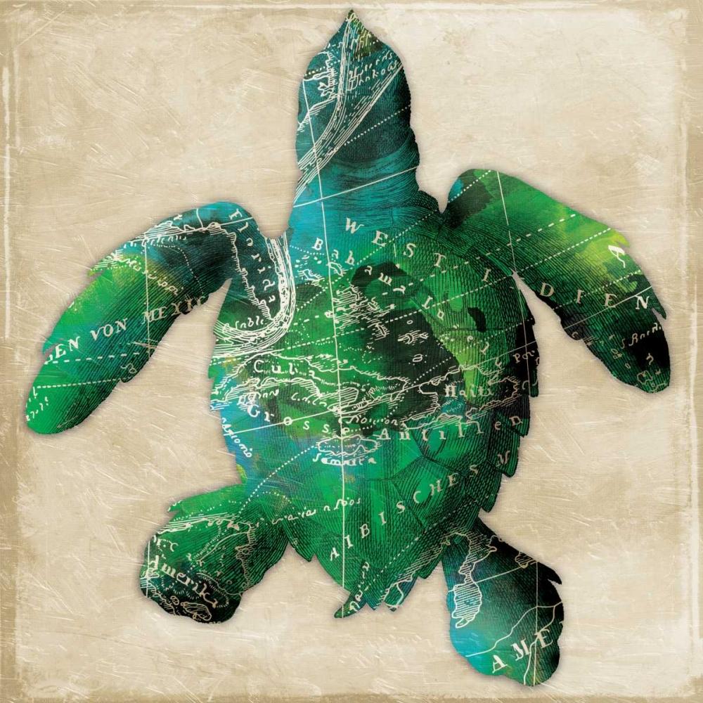 konfigurieren des Kunstdrucks in Wunschgröße Map turtle von Grey, Jace