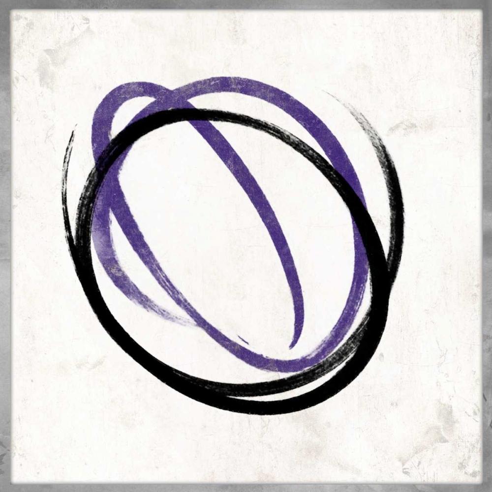 konfigurieren des Kunstdrucks in Wunschgröße Abstract circle purple von Grey, Jace