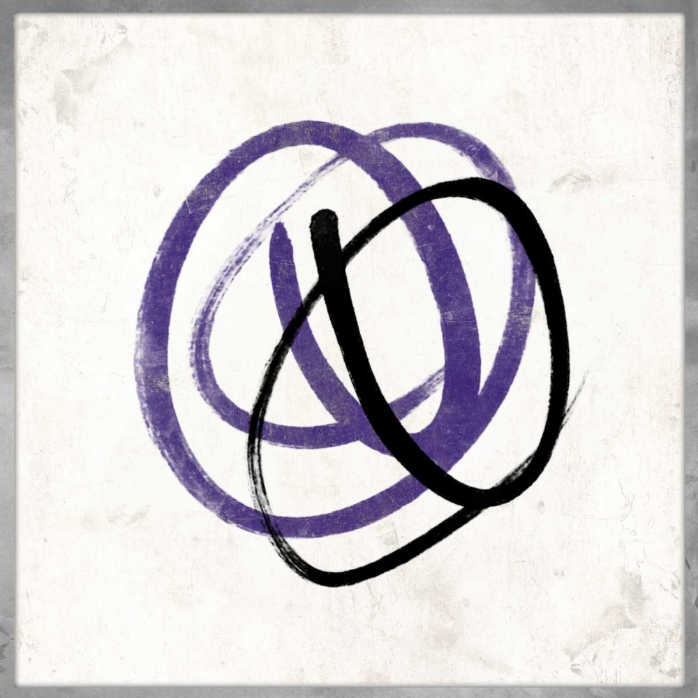 konfigurieren des Kunstdrucks in Wunschgröße Abstract Circle Mate Purple von Grey, Jace