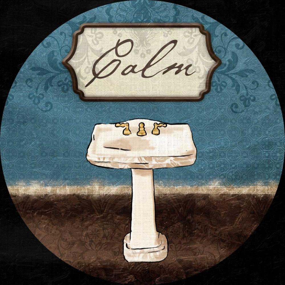 konfigurieren des Kunstdrucks in Wunschgröße Calm Sink Round von Grey, Jace