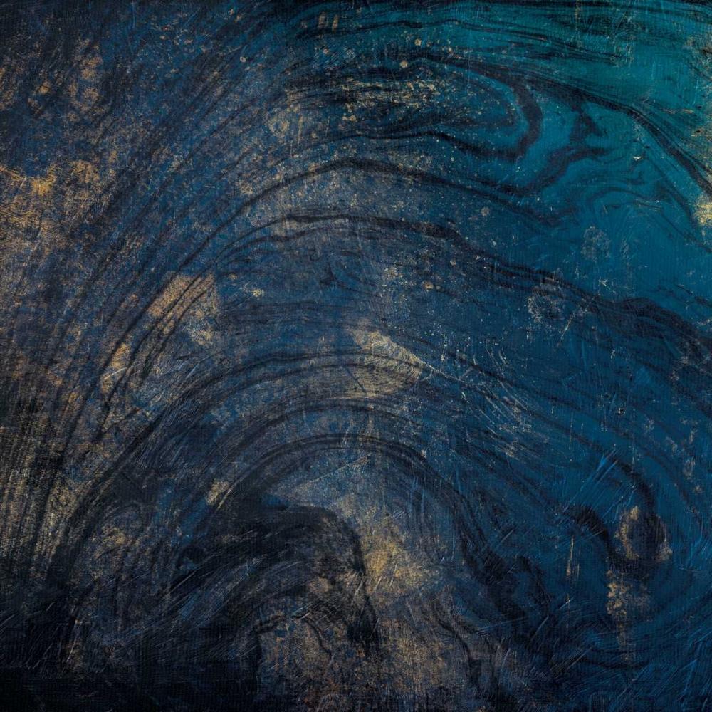 konfigurieren des Kunstdrucks in Wunschgröße Golden Blue Marble von Grey, Jace