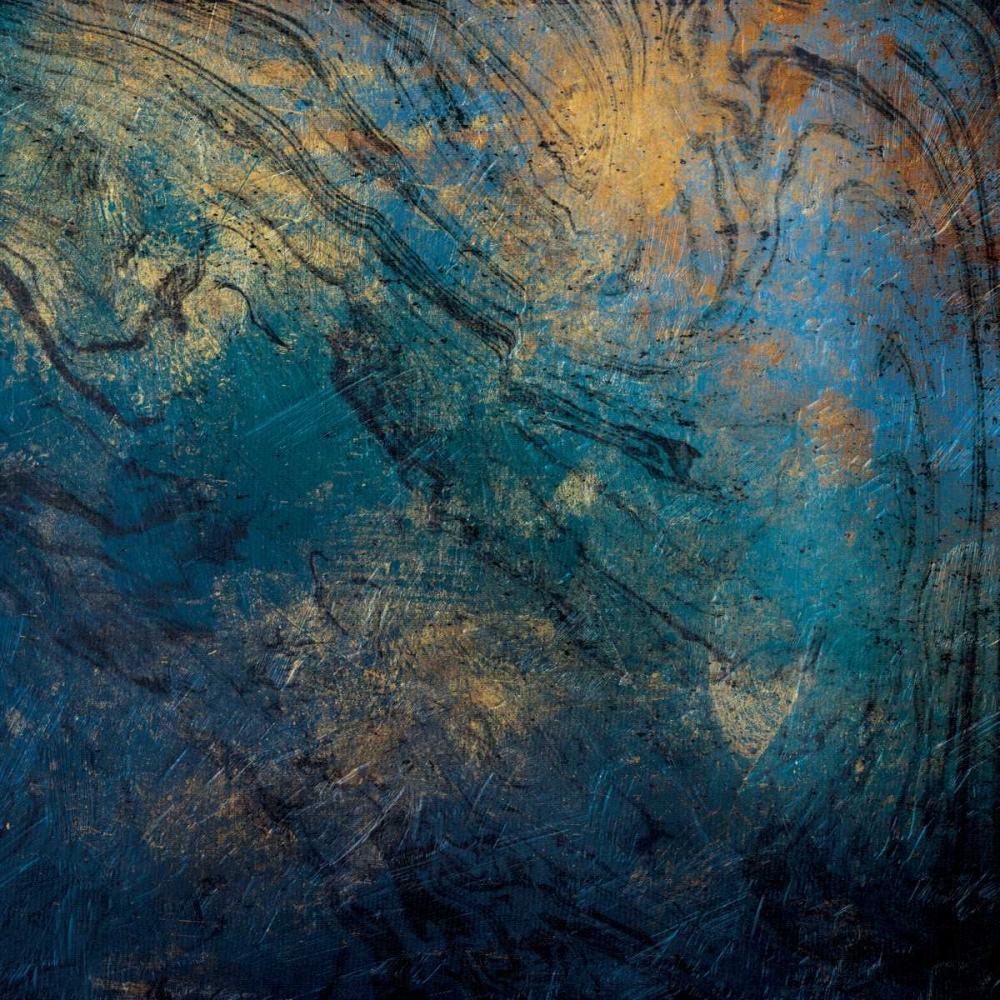 konfigurieren des Kunstdrucks in Wunschgröße Golden Blue Marble Mate von Grey, Jace