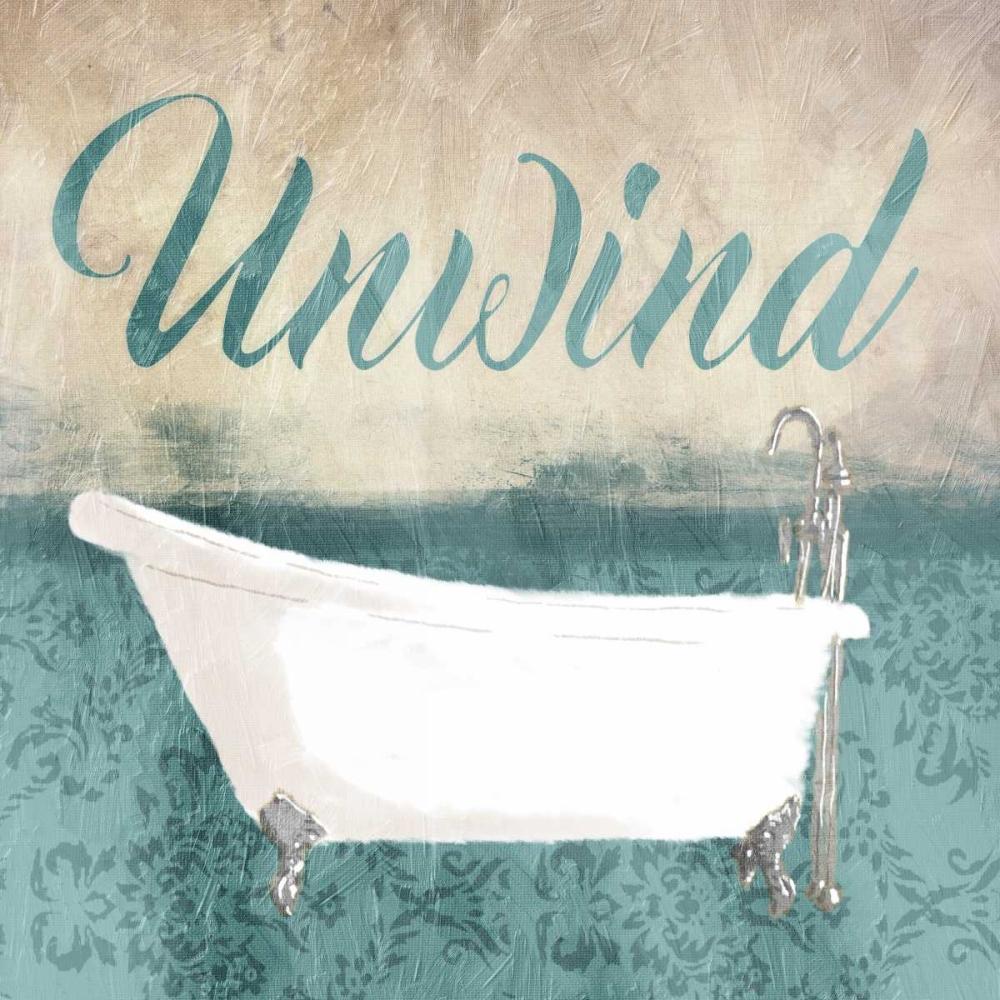 konfigurieren des Kunstdrucks in Wunschgröße Unwind Bath Teal von Grey, Jace
