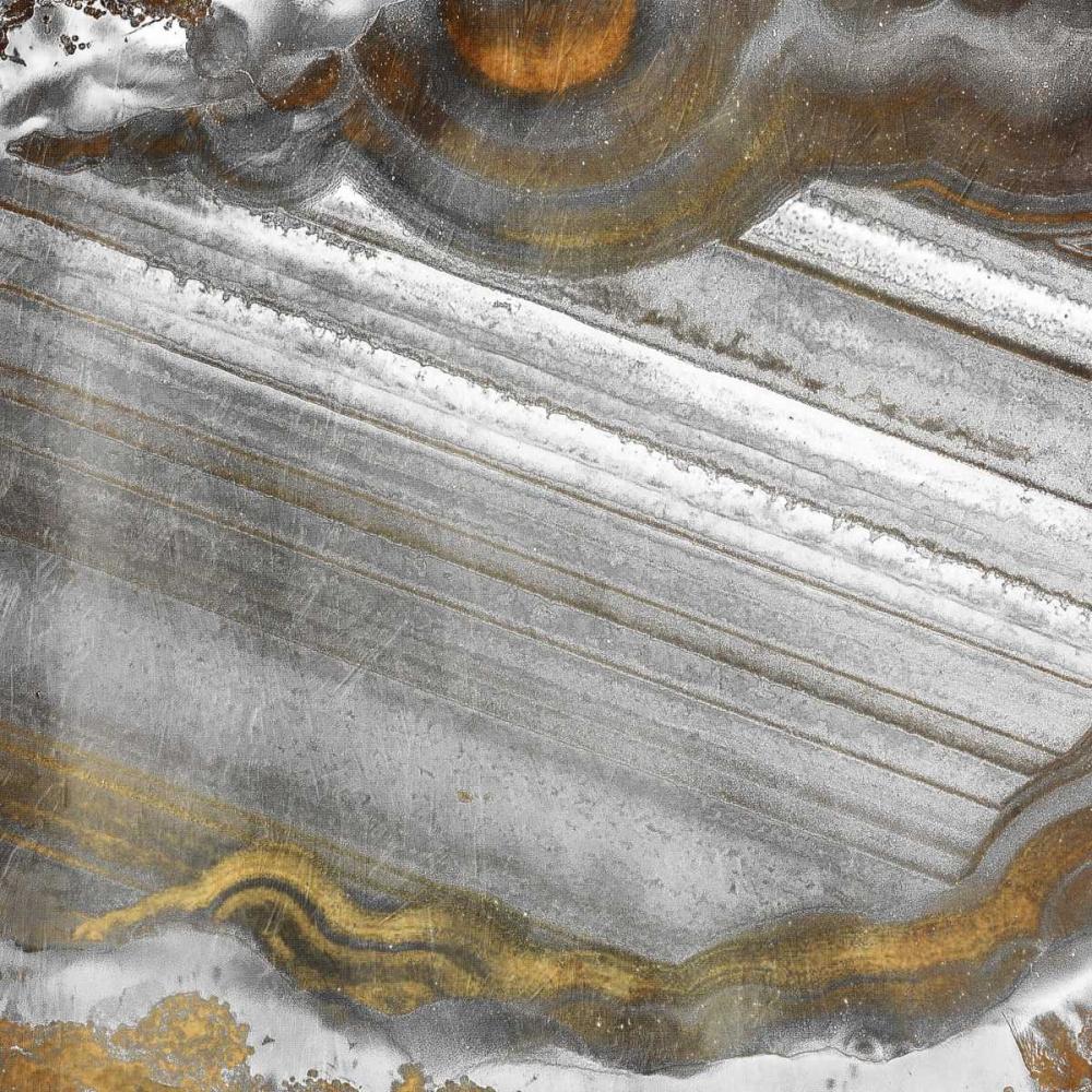 konfigurieren des Kunstdrucks in Wunschgröße Gold Grey Flow von Grey, Jace