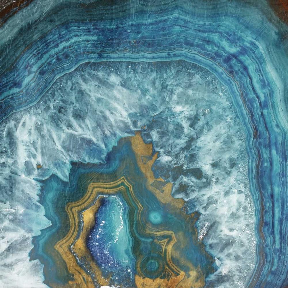 konfigurieren des Kunstdrucks in Wunschgröße Gold Blue Flow von Grey, Jace