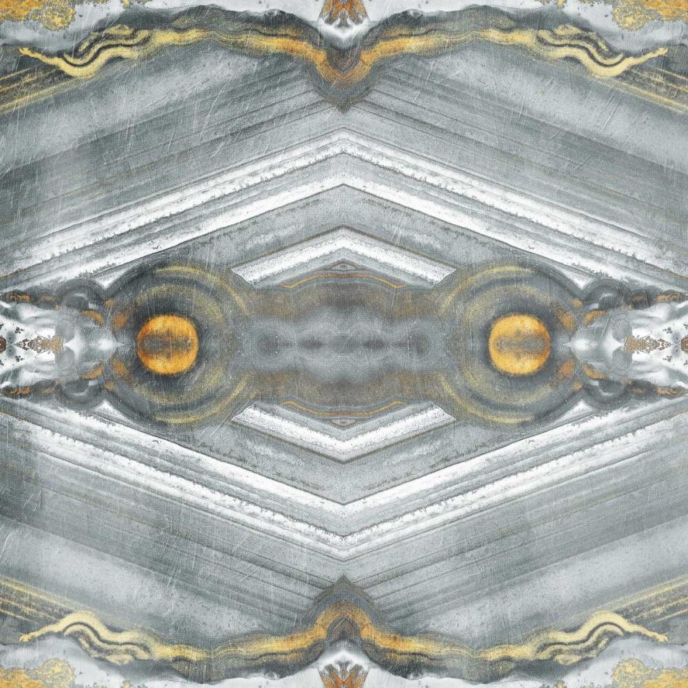 konfigurieren des Kunstdrucks in Wunschgröße Kaleidoscope Gold And Grey von Grey, Jace