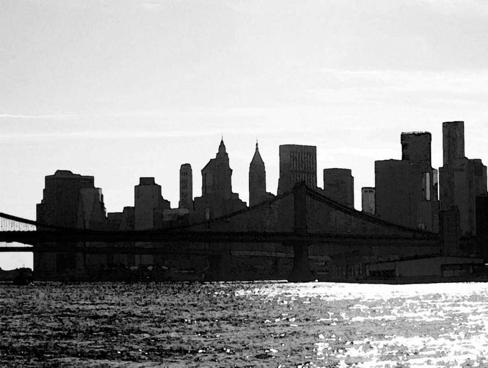 konfigurieren des Kunstdrucks in Wunschgröße NYC Silhoutte von Pica, Jeff