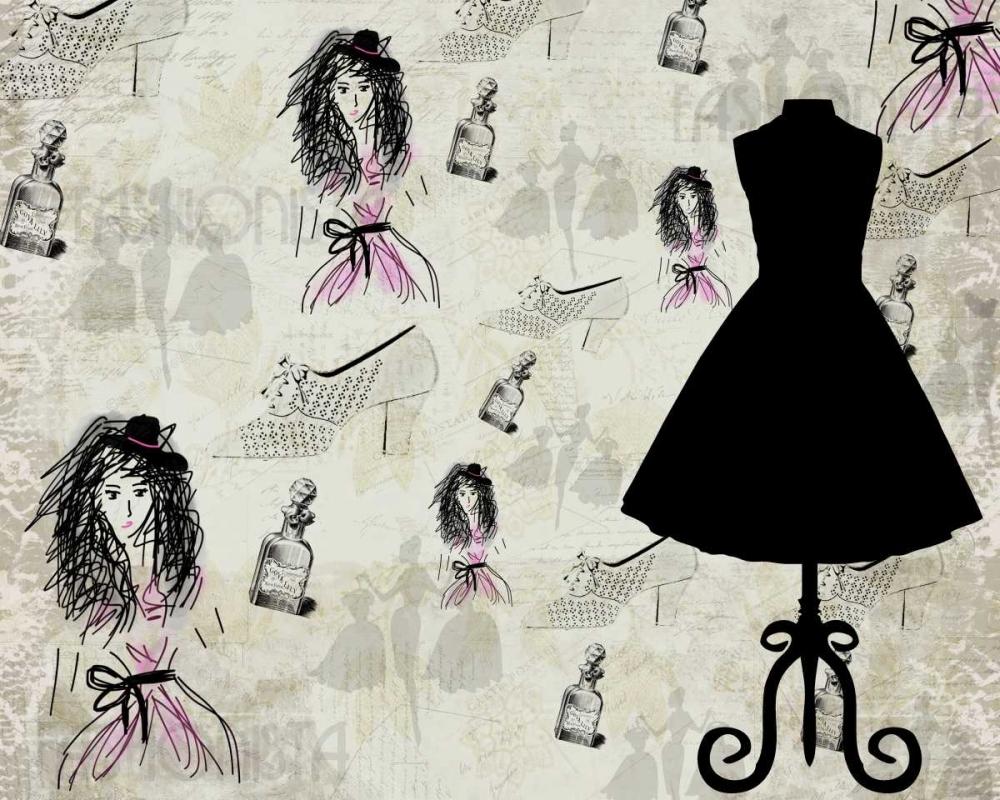 konfigurieren des Kunstdrucks in Wunschgröße Fashionista von Allen, Kimberly