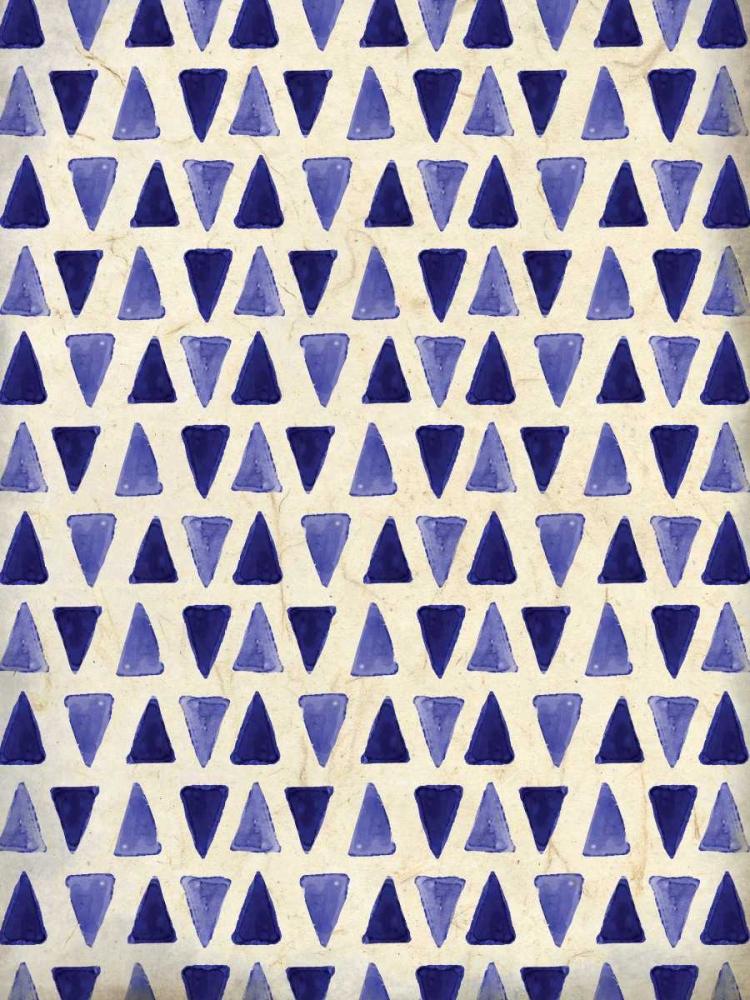konfigurieren des Kunstdrucks in Wunschgröße Indigo Triangles von Allen, Kimberly