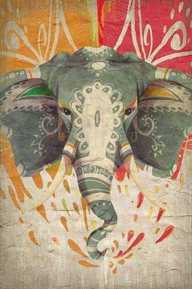 konfigurieren des Kunstdrucks in Wunschgröße Elephant Splashes von Kimberly, Allen