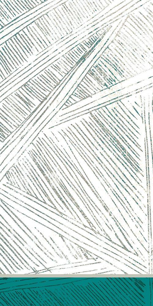 konfigurieren des Kunstdrucks in Wunschgröße Teal Lined 1 von Allen, Kimberly