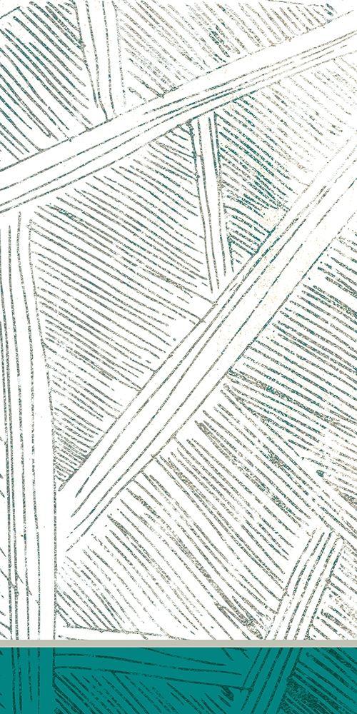konfigurieren des Kunstdrucks in Wunschgröße Teal Lined 2 von Allen, Kimberly
