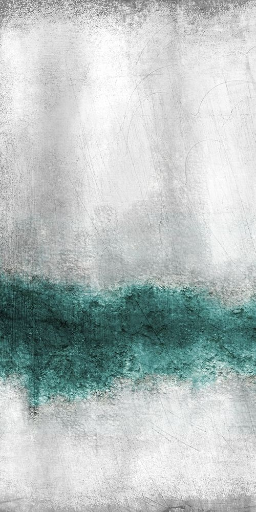 konfigurieren des Kunstdrucks in Wunschgröße Teal Tones Panel A von Allen, Kimberly