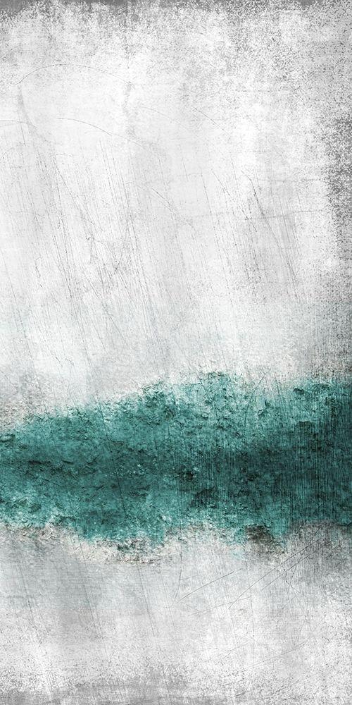 konfigurieren des Kunstdrucks in Wunschgröße Teal Tones Panel B von Allen, Kimberly