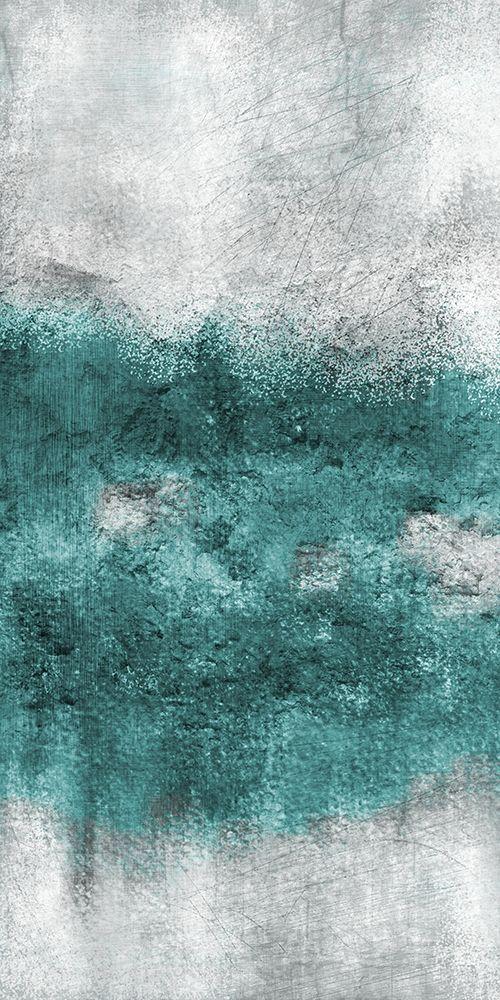 konfigurieren des Kunstdrucks in Wunschgröße Teal Tones Panel C von Allen, Kimberly