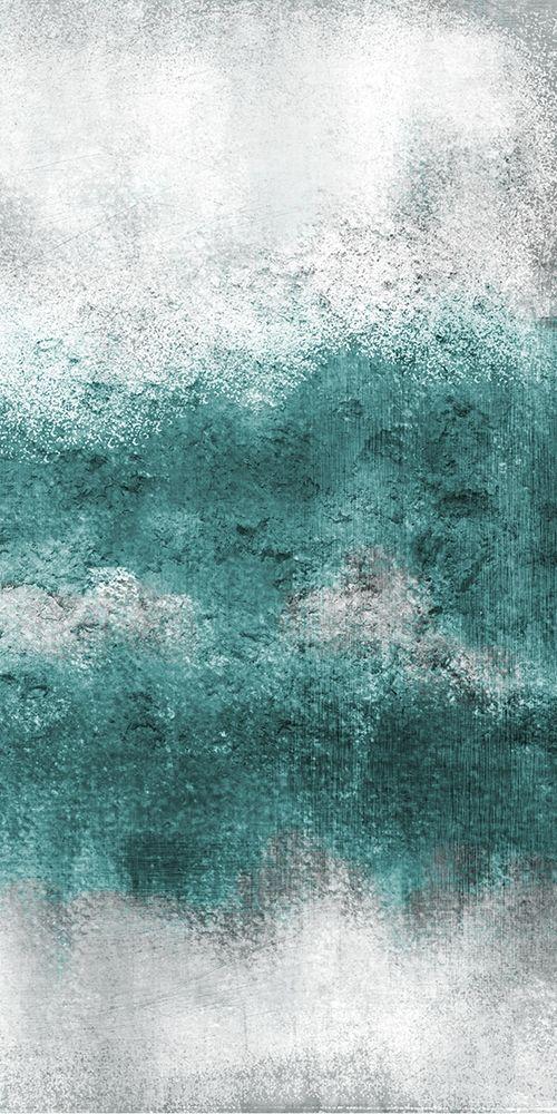 konfigurieren des Kunstdrucks in Wunschgröße Teal Tones Panel D von Allen, Kimberly