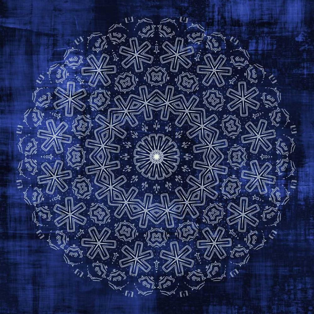 konfigurieren des Kunstdrucks in Wunschgröße Indigo Mandala 1 von Allen, Kimberly