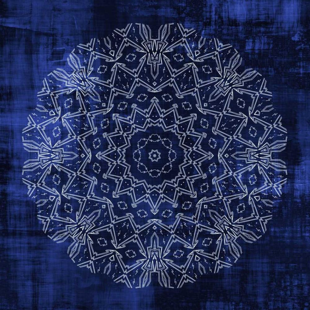 konfigurieren des Kunstdrucks in Wunschgröße Indigo Mandala 3 von Allen, Kimberly