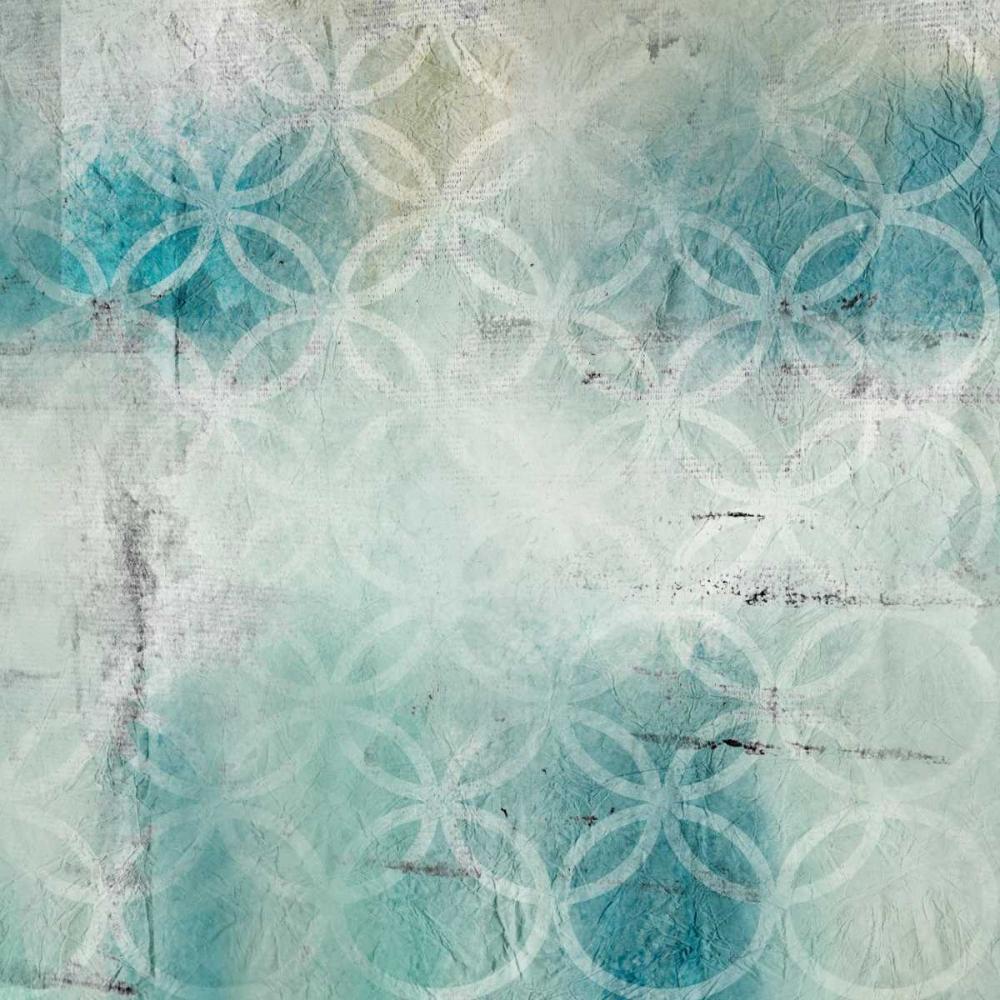 konfigurieren des Kunstdrucks in Wunschgröße Teal Geo 2 von Allen, Kimberly