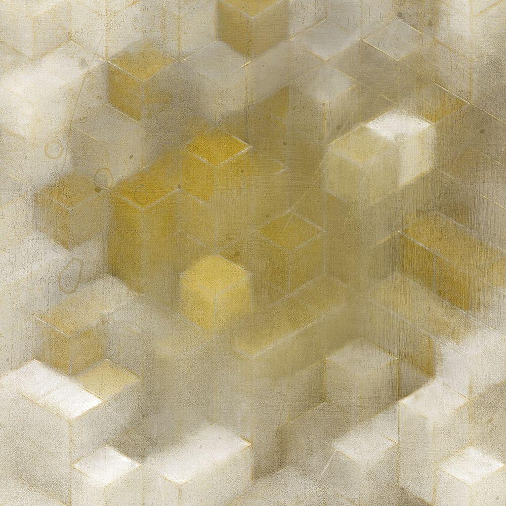 konfigurieren des Kunstdrucks in Wunschgröße Golden Cube von Kimberly, Allen