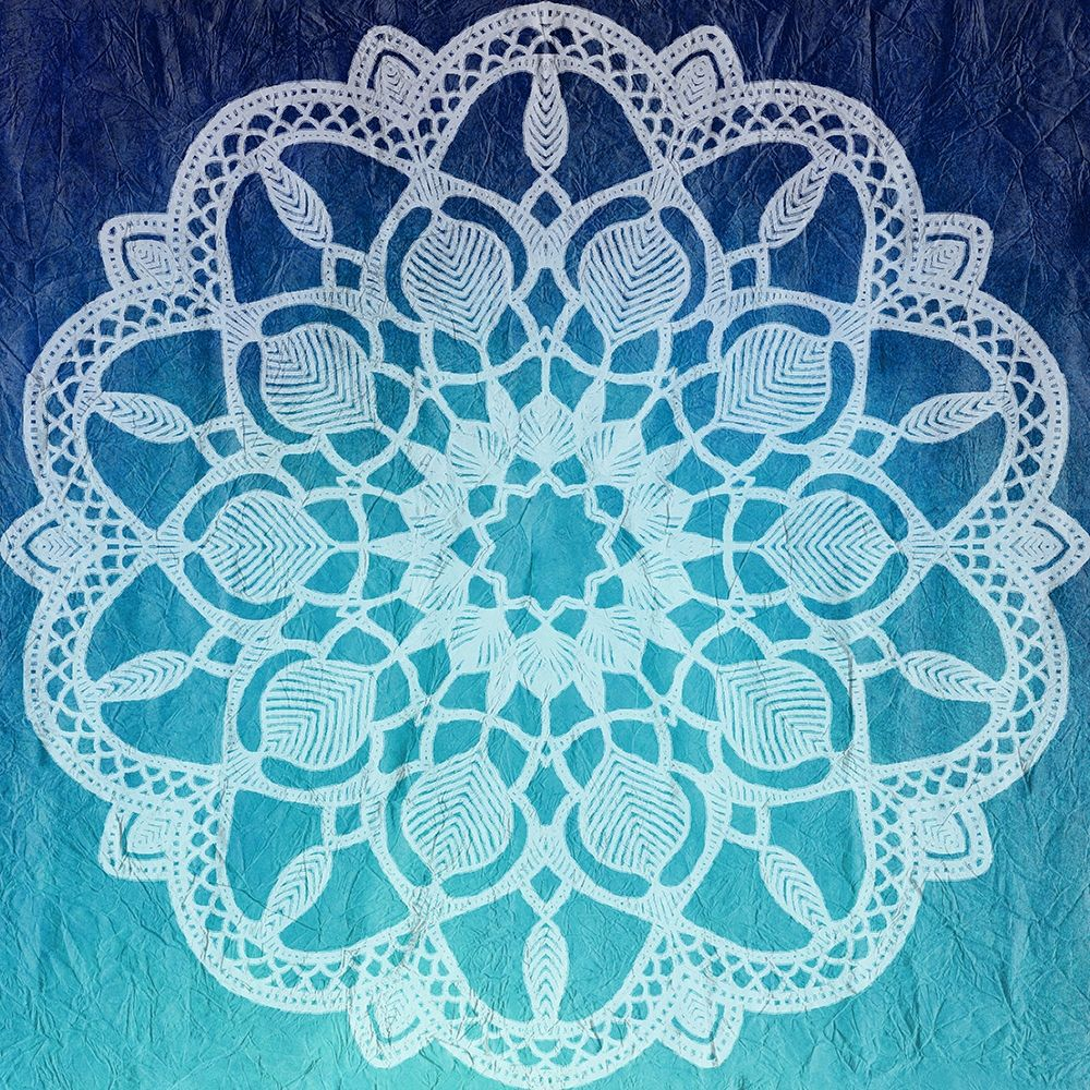 konfigurieren des Kunstdrucks in Wunschgröße Indigo Mandala 1 von Kimberly, Allen