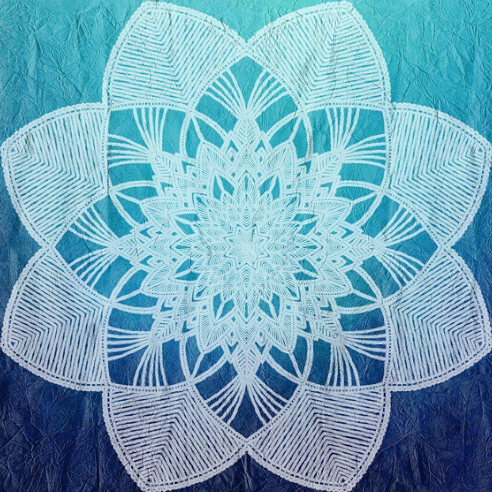 konfigurieren des Kunstdrucks in Wunschgröße Indigo Mandala 2 von Kimberly, Allen