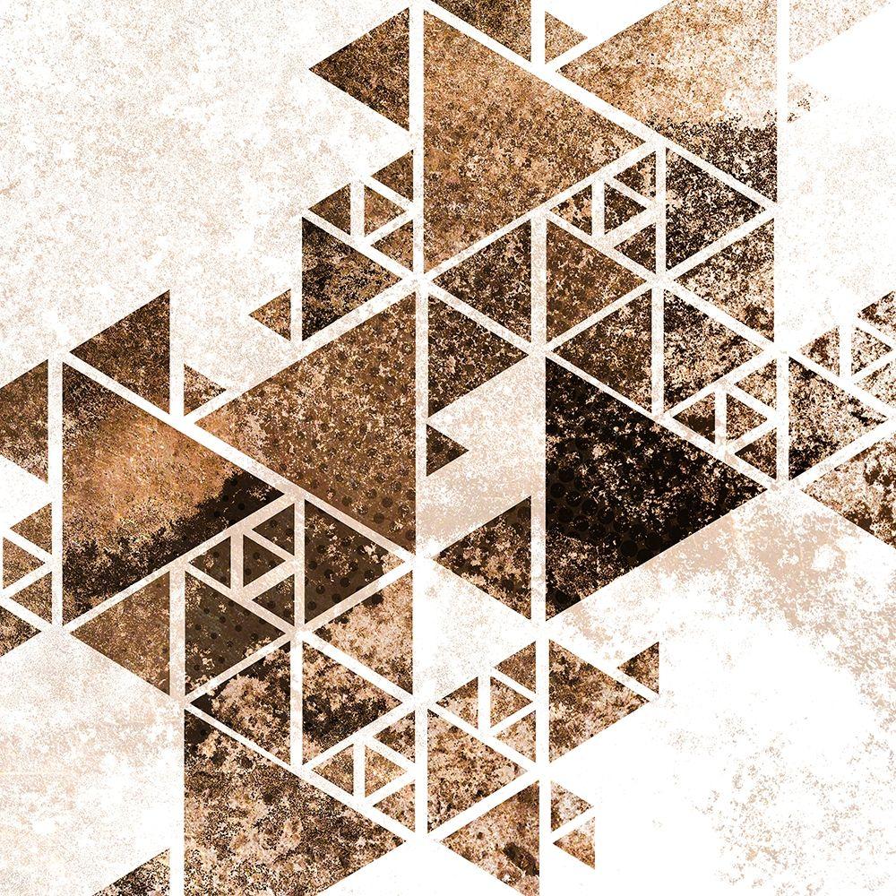 konfigurieren des Kunstdrucks in Wunschgröße Triangles in Copper 1 von Allen, Kimberly