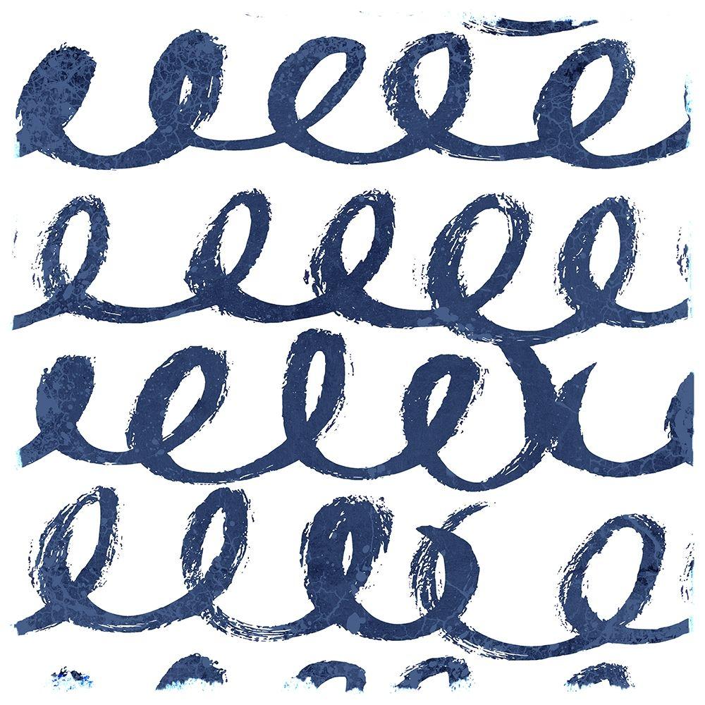 konfigurieren des Kunstdrucks in Wunschgröße Indigo Scribbles 1 von Allen, Kimberly