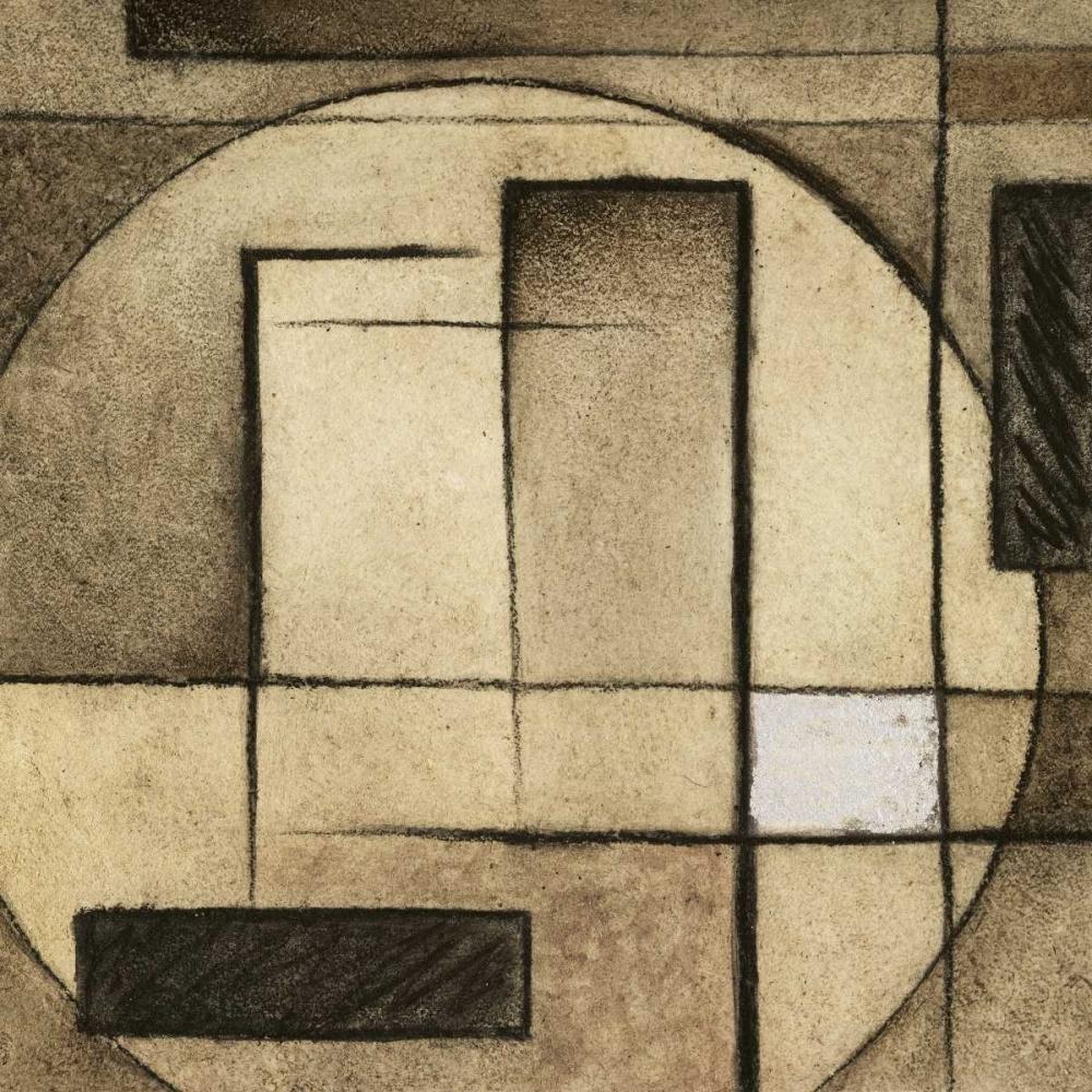 konfigurieren des Kunstdrucks in Wunschgröße Brown Circle Box I von Emery, Kristin